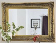 LARGE Silver Decorative Mirror - Save ££'s - Insured in Transit